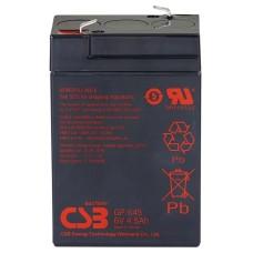 CSB Аккумуляторная батарея GP 645 (6V, 4.5Ah@20hr) для ИБП