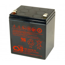 CSB Аккумуляторная батарея HR 1221W F2 (12V, 5Аh, 21W/cell@15min) аккумулятор для ИБП