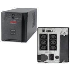 ИБП линейно-интерактивный APC Smart-UPS 750ВА/500Вт, 2xАккумулятора 12В 7.2Ач (RBC48) - в комплект не входит! черный