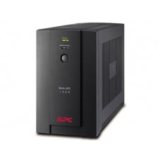 ИБП линейно-интерактивный APC Back-UPS 1400ВА/700Вт, 4xВилка Schuko CEE 7/7P, 2xАккумулятора 12В 7Ач (RBC113), черный