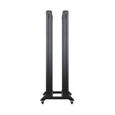 """19"""" Двойная стойка 32U/600x600 (между профилями 400мм), нагрузка до 800kg, цвет черный"""