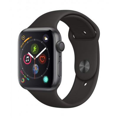 (MU6E2) - Apple Watch Series 4 (GPS, 44mm) - Space Gray Aluminium Case with Black Sport Band
