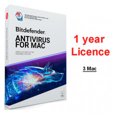 Bitdefender Antivirus for Mac 2019 (лицензия на один год, 3-Mac)