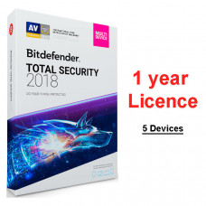 Bitdefender Total Security 2019 (licence for one year, for 5 devices)