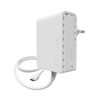PWR-LINE EU Power adapter with PWR-LINE functionality for microUSB powered MikroTik router (Type C power plug)