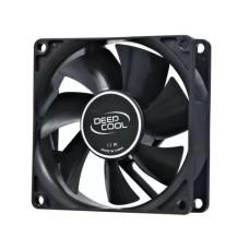 "DEEPCOOL ""Xfan 80"" Fan, 80x80x25mm, 1800rpm, <20dBa, 21.8CFM, Hydro Bearing, Big 4Pin and 3Pin Molex, Black"