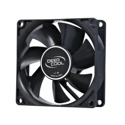 "(XDC-XFAN80) - DEEPCOOL ""Xfan 80"" Fan, 80x80x25mm, 1800rpm, <20dBa, 21.8CFM, Hydro Bearing, Big 4Pin and 3Pin Molex, Black"