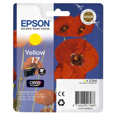 (56135) - Ink Cartridge Epson T17044A10 Yellow