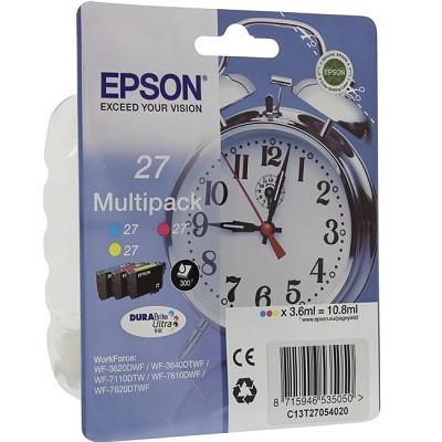 (T27054022) - Ink Cartridge Epson, MultiPack Ink 3-Colour for WF-3620/3640/7110/7610/7620/WF-7110DTW/WF-7210DTW/WF-7610DWF/WF-7620DTWF/WF-7710DWF/WF-7720DTWF