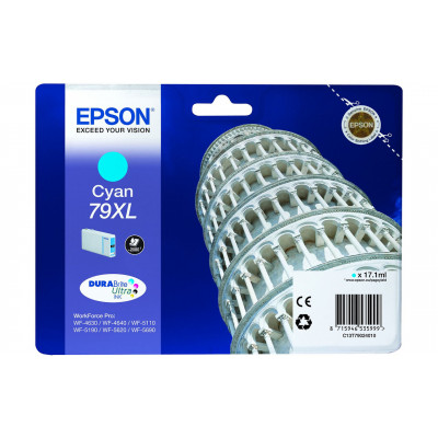 (76769) - Ink Cartridge Epson T79024010, 79XL DURABrite Ultra Ink, cyan