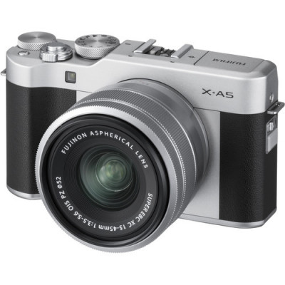 (FJF1065) - Fujifilm X-A5 Silver/XC15-45mm kit