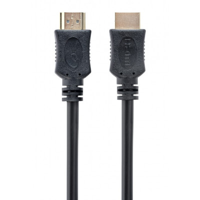 """Cable HDMI - 1m - Cablexpert CC-HDMI4L-1M """"Select Series"""", male-male, High speed HDMI cable with Ethernet, Supports 4K UHD resolutions at 60Hz, Gold plated connectors, Black"""