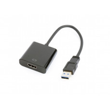 Adapter USB3.0-HDMI - Gembird  A-USB3-HDMI-02, USB 3.0 to HDMI video adapter cable, Black