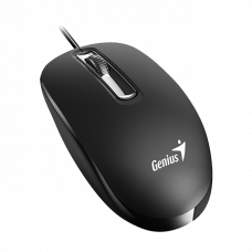 Mouse Genius DX-130, Optical, 1000 dpi, 3 buttons, Ambidextrous, Black, USB