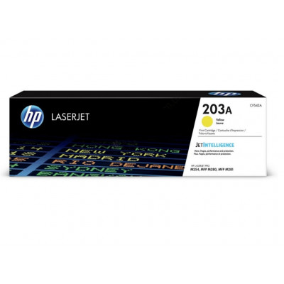 HP Toner Cart. CF542A (203A) for LJ Pro M280nw/M281fdw/ M281fn yellow