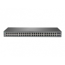 HPE 1820 48G Switch, 48-port RJ-45 10/100/1000 ports, Layer 2 switching, 4-SFP 100/1000 Mbps ports, VLANs, IGMP Snooping, link aggregation trunking, DSCP QoS policies STP/RSTP