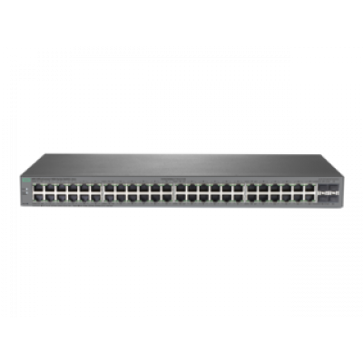 (J9981A) - HPE 1820 48G Switch, 48-port RJ-45 10/100/1000 ports, Layer 2 switching, 4-SFP 100/1000 Mbps ports, VLANs, IGMP Snooping, link aggregation trunking, DSCP QoS policies STP/RSTP