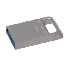 USB 3.1 Flash Drive 16GBKingston DataTraveler Micro, Metal casing, Compact and Lightweight, World's smallest USB Flash drive R/W: 100/15 MByte/s, silver