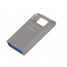 USB 3.1 Flash Drive 64GB Kingston DataTraveler Micro, Metal casing, Compact and Lightweight, World's smallest USB Flash drive R/W: 100/15 MByte/s, silver