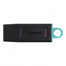 64GB USB3.2  Kingston DataTraveler Exodia Black/Blue, (Read 100 MByte/s, Write 12 MByte/s)