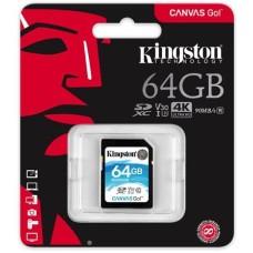 SD Card 64GB Kingston Canvas Go, Ultimate, Class 10 UHS-I U3 633x, Read/Write: 90M/45 Mb/s