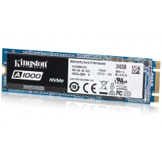 SSD M.2 240GB Kingston A1000, NVMe PCIe™ Gen 3.0, ATTO R/W: 1500/800 MB/s, TBW: 150TB, NAND 3D TLC, 1 million hours MTBF