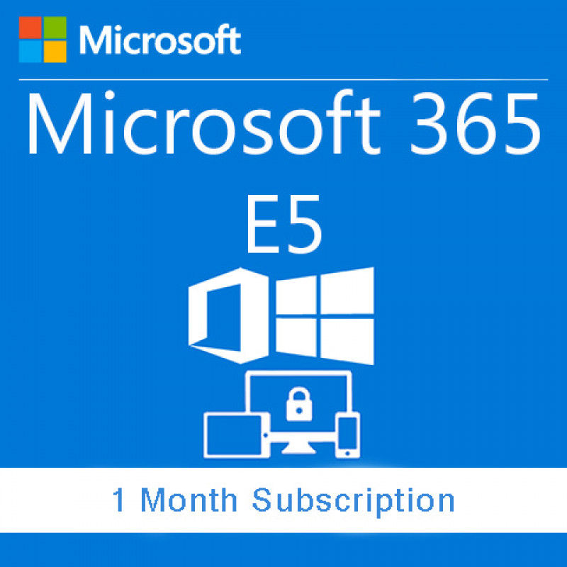 (AAA-35640) Microsoft 365 E5 without Audio Conferencing (monthly  subscription for 1 user)