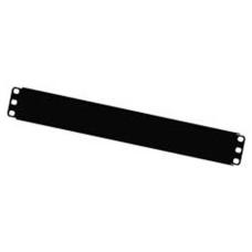 """1U 19"""" Панель заглушка металлическая в стойку/шкаф, черная"""