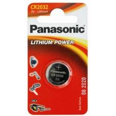 Батарейка Panasonic CR-2032, 3В Литий, 1 шт. в упаковке
