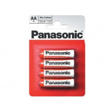 "Panasonic ""Zink Carbon"" AA Blister*4, Manganese Dioxide, R6REL/4BPR"