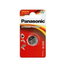 Батарейка Panasonic CR-2016, 3В Литий, 1 шт. в упаковке