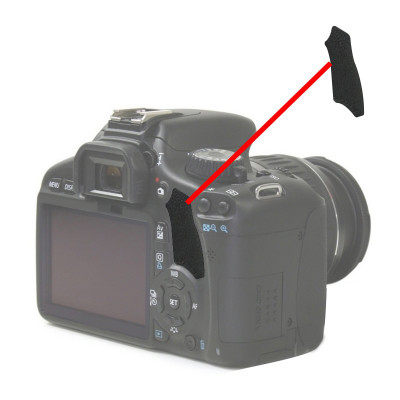 The Thumb Rubber Back Cover for Canon 550D