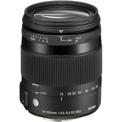 (64163) - Zoom Lens Sigma AF  18-200mm f/3.5-6.3 DC MACRO OS HSM CONTEMPORARY F/NikB