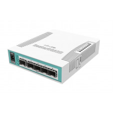 CRS106-1C-5S Smart Switch, 5x SFP cages, 1x Combo port (SFP or Gigabit Ethernet), 400MHz CPU, 128MB RAM, desktop case, RouterOS L5