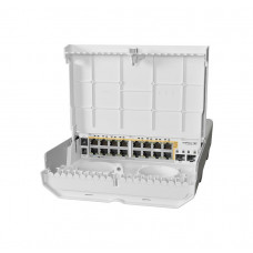 netPower 16P An outdoor 18 port switch with 16 Gigabit PoE-out ports and 2 SFP+. Power all your access points anywhere!