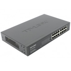 TP-LINK TL-SG1016DE, 16-Port Gigabit Easy Smart Switch, 16 10/100/1000Mbps RJ45 ports, MTU/Port/Tag-based VLAN, QoS, IGMP Snooping, provides network monitoring, traffic prioritization and VLAN features, metal case