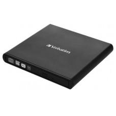 CD/DVD Writer VERBATIM, External Portable Slimline 14mm, Black