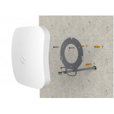 cAP ac Dual-band 2.4 / 5GHz wireless access point for mounting on a ceiling or wall with two Gigabit Ethernet ports (one with PoE output), 802.11ac support and IPsec hardware encryption support
