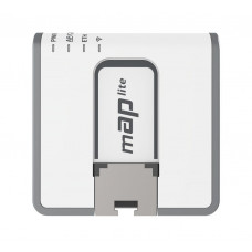 mAP lite Tiny size 2.4GHz Dual Chain access point with a 650MHz CPU, 64MB RAM and one Ethernet