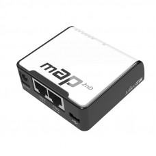 mAP Dual-Chain 2.4GHz micro AP, 650MHz CPU, 64MB RAM, 2xEthernet, PoE out