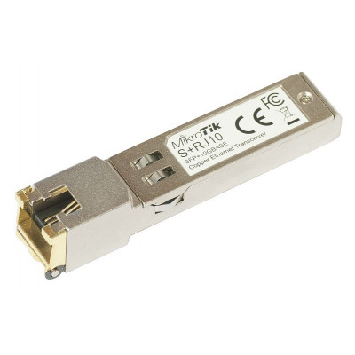 S+RJ10 6-speed RJ-45 module for up to 10 Gbps