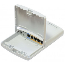PowerBox 650MHz CPU, 64MB RAM, 5xEthernet with PoE output for four ports, RouterOS L4, outdoor case, PSU