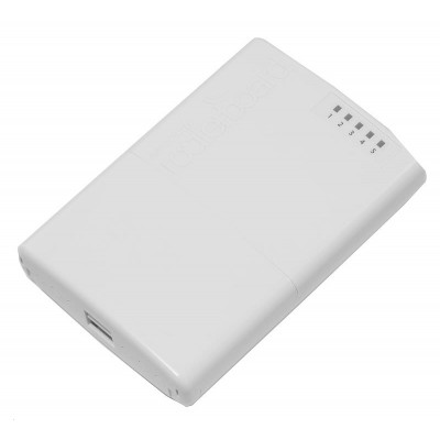 (RB750P-PBr2) - PowerBox 650MHz CPU, 64MB RAM, 5xEthernet with PoE output for four ports, RouterOS L4, outdoor case, PSU