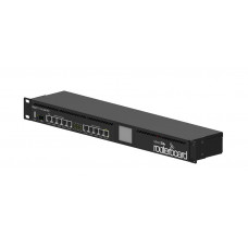 RB2011UiAS-RM 1U rackmount, 5xEthernet, 5xGigabit Ethernet, USB, LCD, PoE out on port 10, 600MHz CPU, 128MB RAM, RouterOS L5