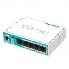 hEX Lite 5x Ethernet, Small plastic case, 850MHz CPU, 64MB RAM, Most affordable MPLS router, RouterOS L4