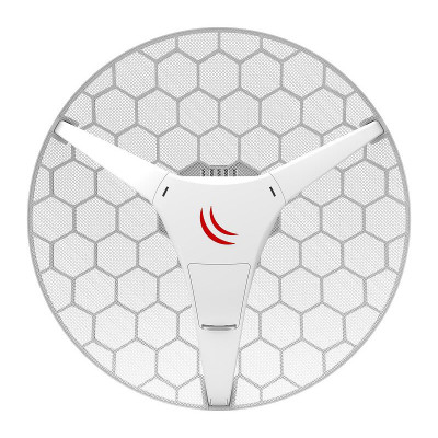 (RBLHGG-5acD) - LHG 5 ac Dual chain 24.5dBi 5GHz CPE/Point-to-Point Integrated Antenna with AC support and Gigabit Ethernet